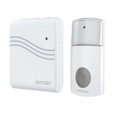 Portable wireless doorbell, white