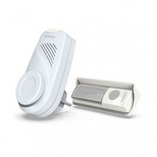 Wireless door chime with male and female plug